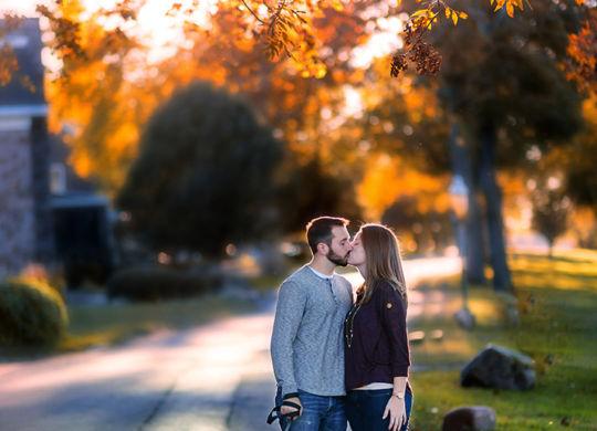 South Jersey Engagement Photography of Brooke & Jon in Palmyra, NJ of Burlington County